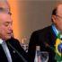 Meirelles cochila durante discurso de Temer em reunião do Mercosul